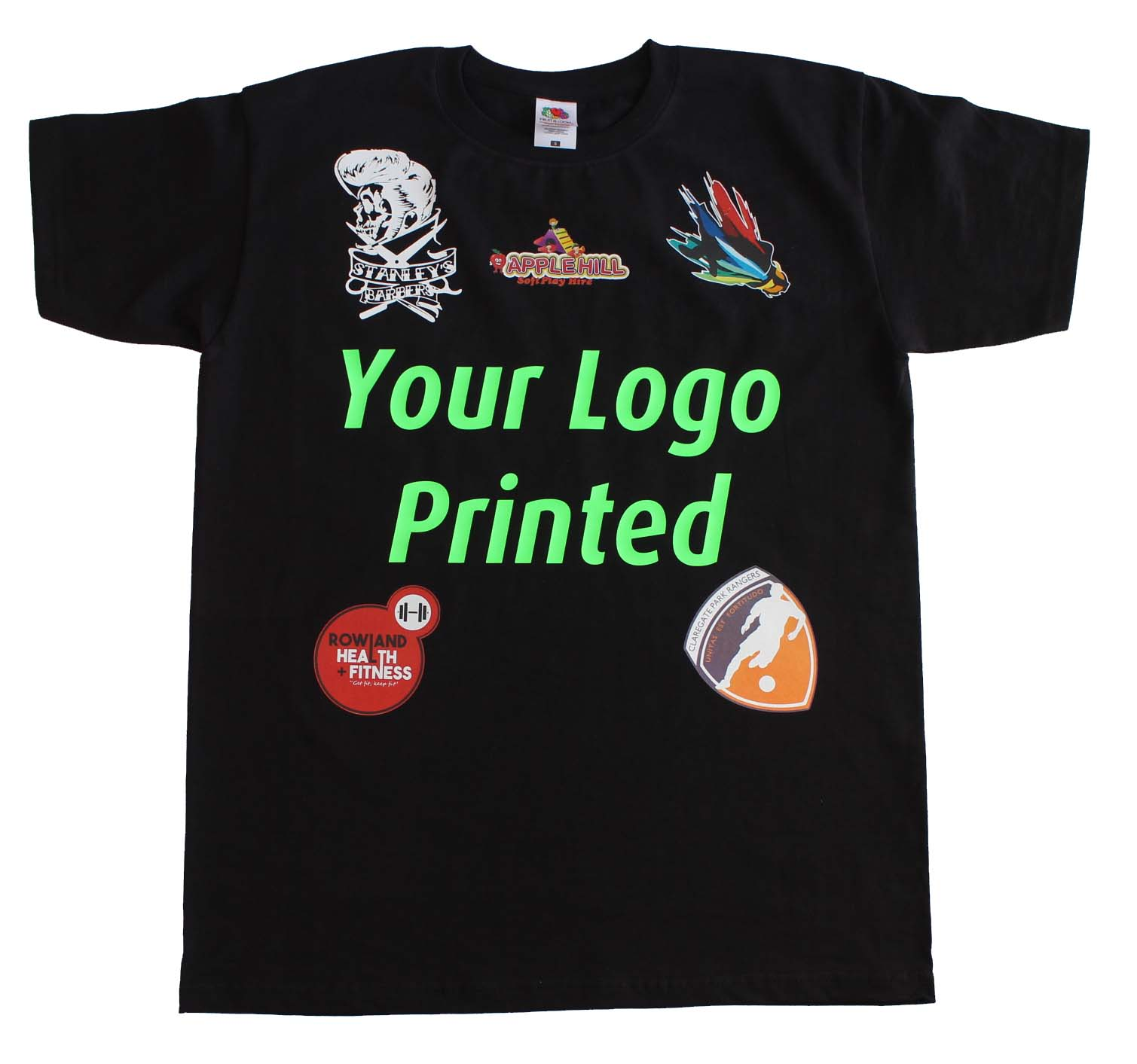 Your business logo or name printed on custom mens t shirt for T shirts for business logo